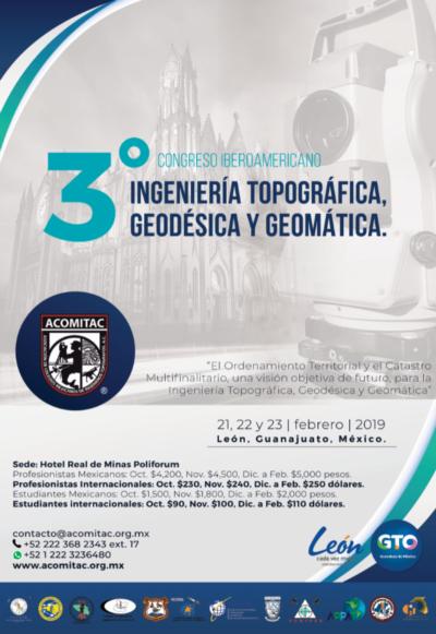 OMPHIKA participa en el 3er Congreso Iberoamericano de Ingeniería Topográfica, Geodésica y Geomática