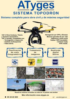 APLITOP Y ATYGES PRESENTAN UNA HERRAMIENTA PARA RESTITUCIÓN VECTORIAL MEDIANTE EL EMPLEO DE IMÁGENES CAPTADAS POR DRONES