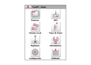 TcpGps. Opciones del software