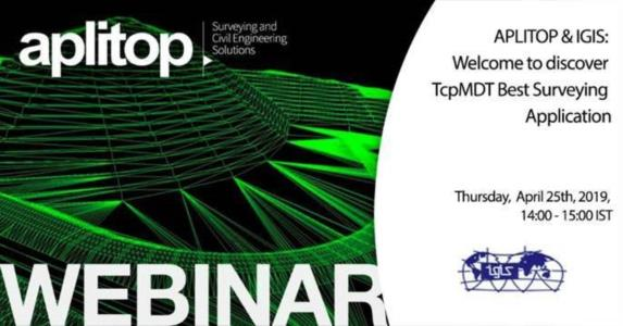Webinar Aplitop&IGIS: a full solution for Surveying and Civil Engineering projects called TcpMDT