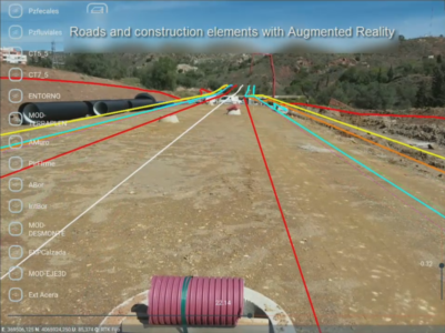 Augmented Reality applied to surveying projects