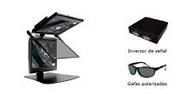 Système passif avec deux moniteurs et lunettes polarisées