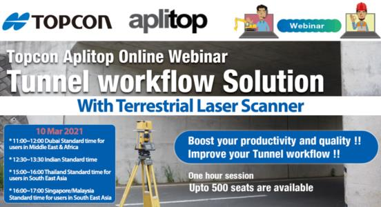 Tunnel Workflow with Terrestrial Laser Scanner